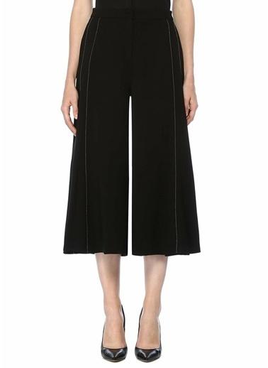Beymen Collection Taş İşlemeli Bol Paça Pantolon Siyah